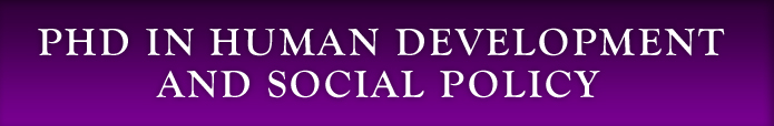 PhD in Human Development and Social Policy