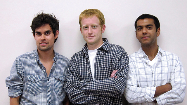 Entrepreneurs (from left) David Hoffman (BS09), Alex White (BS08) and Samir Rayani started nextbigsound.com.