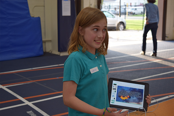 student at stem fair